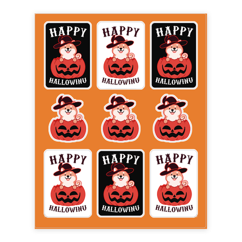 Happy Hallowinu Sticker and Decal Sheet