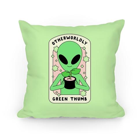 Otherworldly Green Thumb Pillow