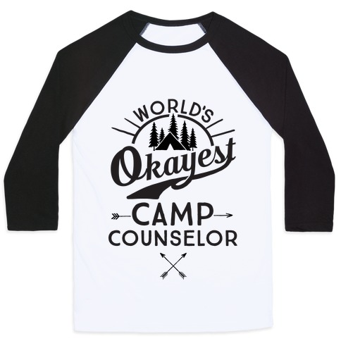World's Okayest Camp Counselor Baseball Tee