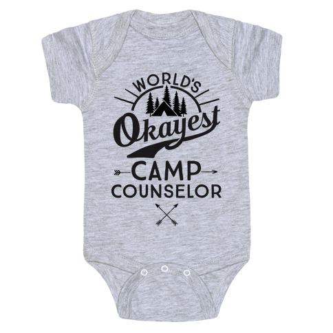 World's Okayest Camp Counselor Baby Onesy