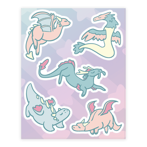 Dreamy Dragons Sticker/Decal Sheet