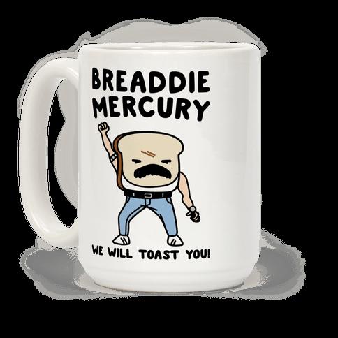 Breaddie Mercury Parody Coffee Mug