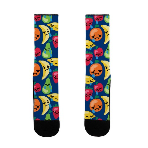 Fruity and Emotional Pattern Sock