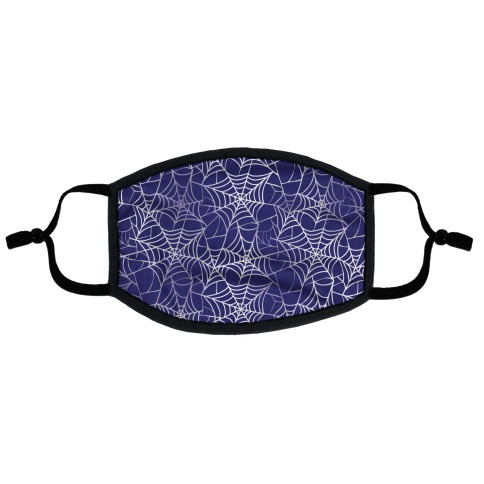 Spider Web Pattern Blue Flat Face Mask