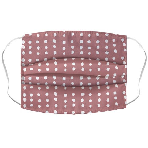 Polka Dot Dusty Rose Minimalist Boho Pattern Face Mask