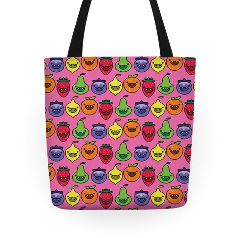 Scary Berries Pattern Tote