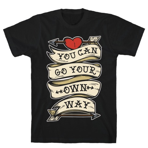 You Can Go Your Own Way Wanderlust White Print T-Shirt