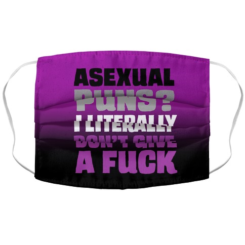 Asexual Puns? I literally Don't Give A F*** Accordion Face Mask