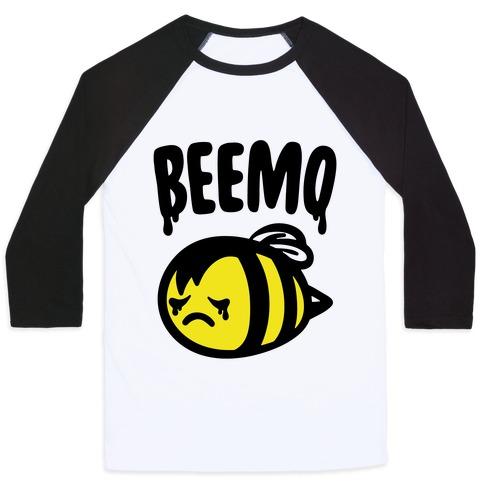 Beemo Emo Bee Parody Baseball Tee