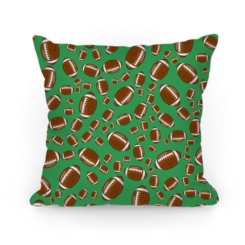 Footballs Pattern Pillow