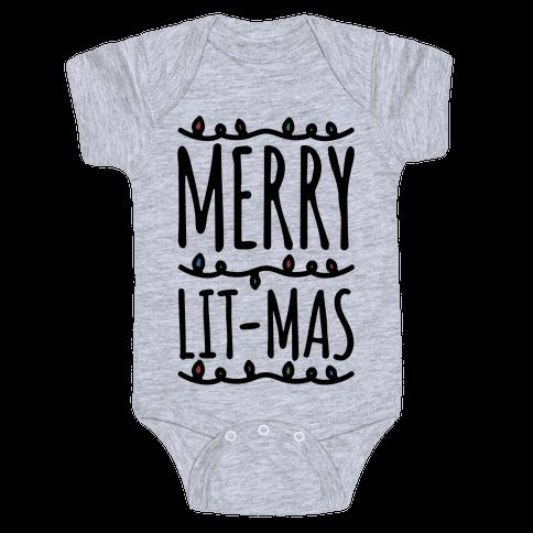 Merry Lit-mas  Baby Onesy