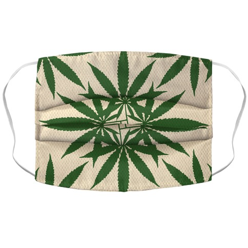 Weed Pattern Accordion Face Mask