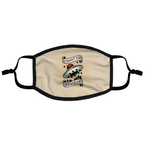 I Want to Believe (Old School Tattoo) Flat Face Mask