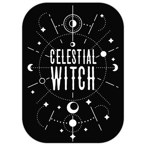 Celestial Witch Die Cut Sticker