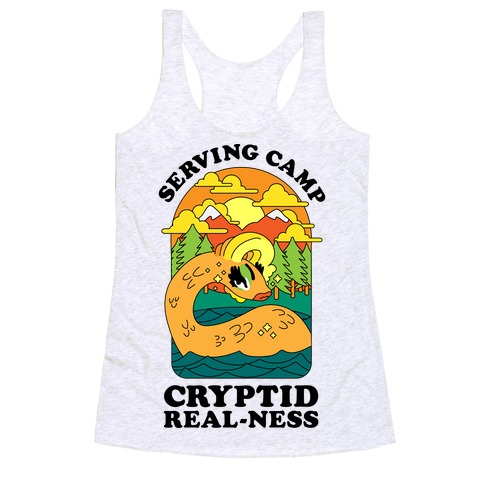 Serving Camp Cryptid Real-Ness Racerback Tank Top