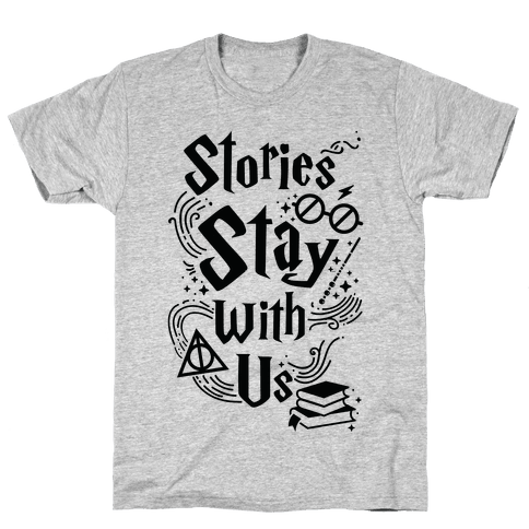 Stories Stay Mens T-Shirt