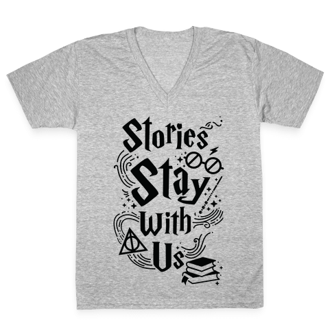 Stories Stay V-Neck Tee Shirt