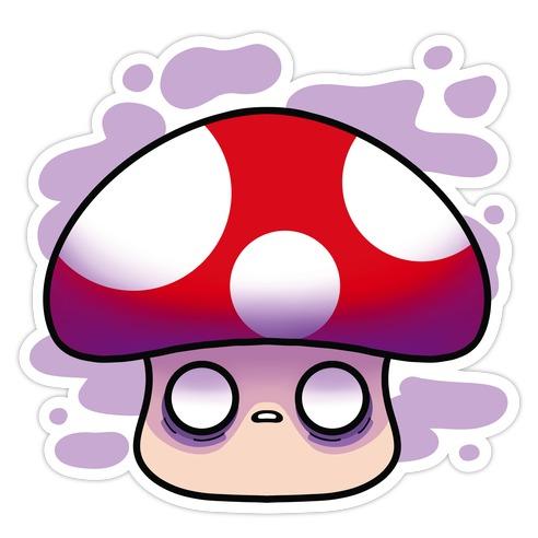 Ominous Mushroom Die Cut Sticker