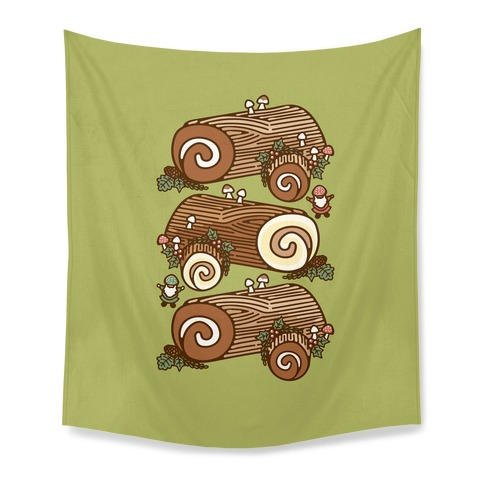 Holiday Yule Logs Tapestry