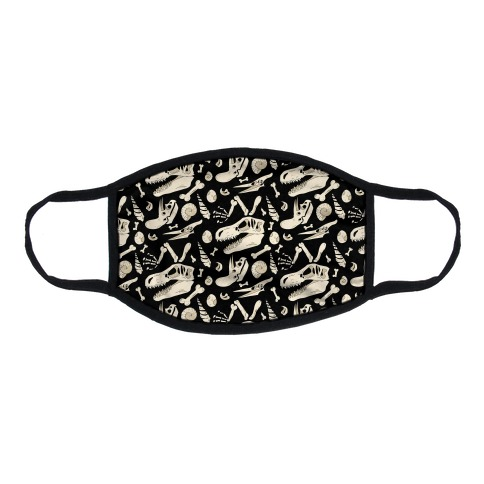 Dino Fossils Pattern Flat Face Mask