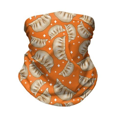 Dumplings Pattern Orange Neck Gaiter