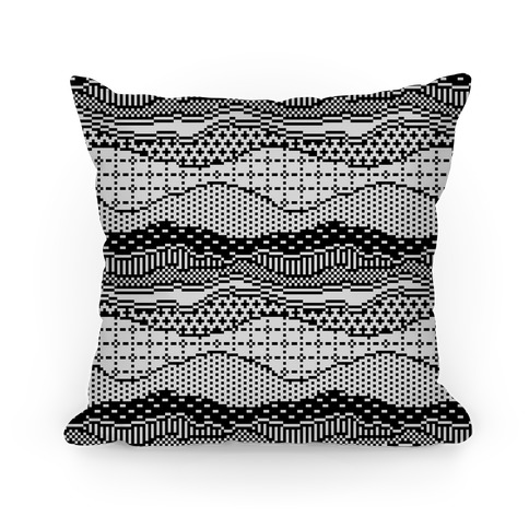 Pixel Waves Pillow