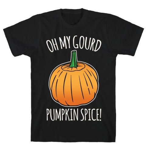 Oh My Gourd Pumpkin Spice White Print Mens T-Shirt