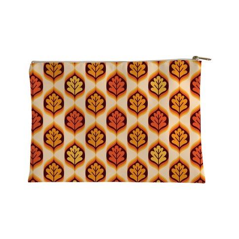Vintage Autumn Leaves Pattern Accessory Bag