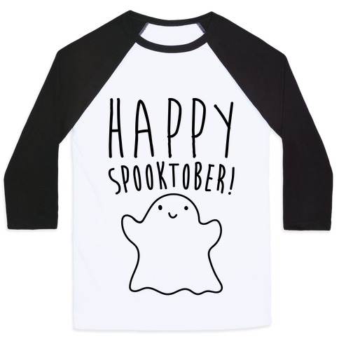 Happy Spooktober Halloween Parody Baseball Tee