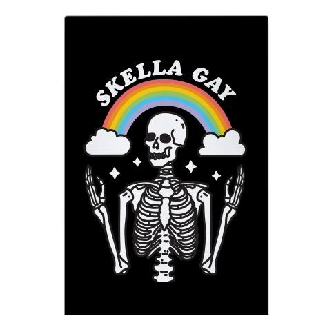 Skella Gay Skeleton Garden Flag