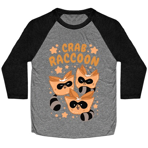 Crab Raccoon Baseball Tee