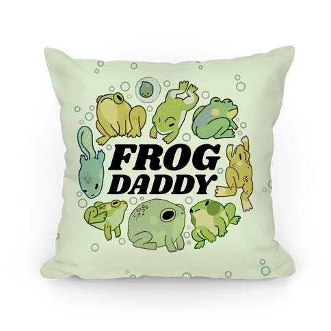 Frog Daddy Pillow
