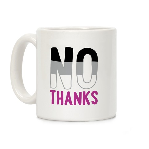 No Thanks Asexual Pride Coffee Mug
