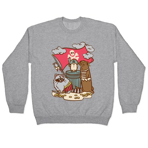 Captain Hedgie's Salty Crew White Print Pullover