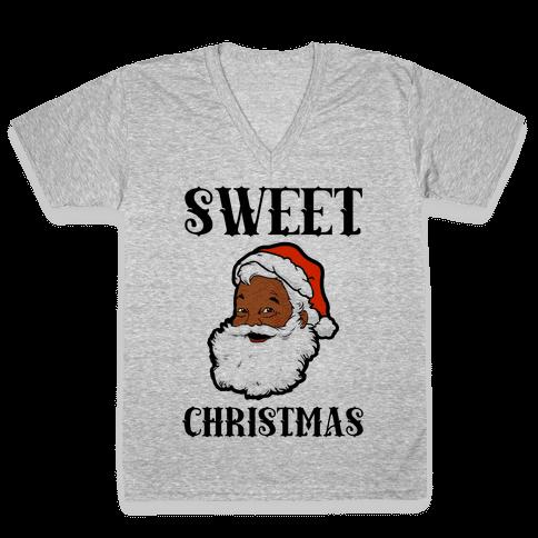 Sweet Christmas V-Neck Tee Shirt