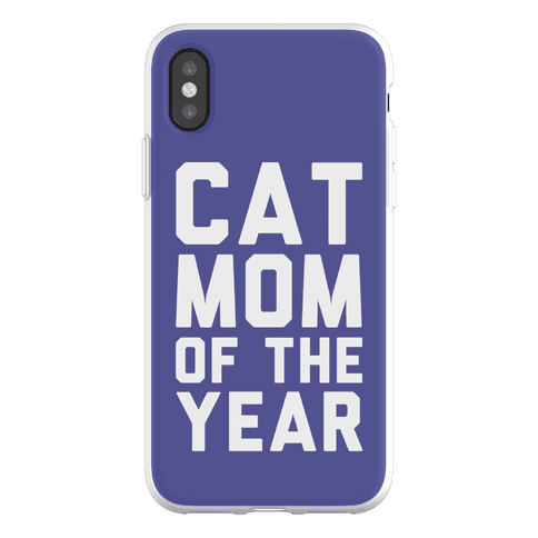 Cat Mom Of The Year Phone Flexi-Case