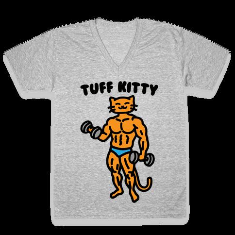 Tuff Kitty V-Neck Tee Shirt