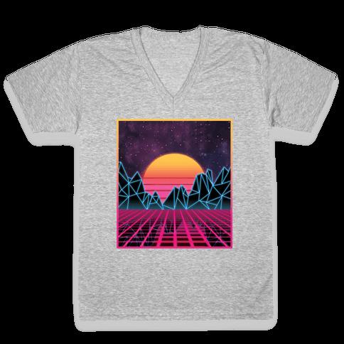 Synthwave V-Neck Tee Shirt