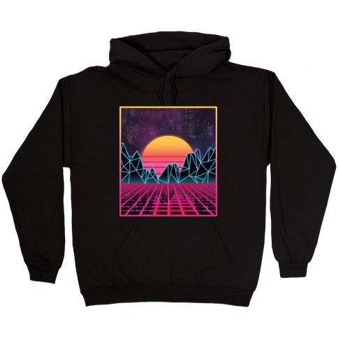 Synthwave Hooded Sweatshirt