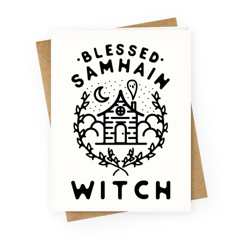 Blessed Samhain Witches Greeting Card