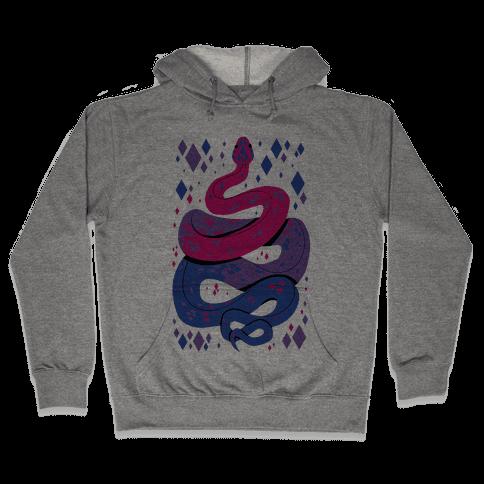 Pride Snakes: bi Hooded Sweatshirt
