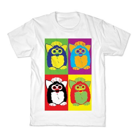 Furby Pop Art Pattern Kids T-Shirt