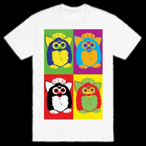 Furby Pop Art Pattern Mens/Unisex T-Shirt