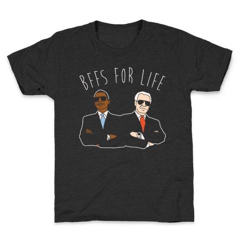 Obama and Biden Bffs For Life White Print Kids T-Shirt