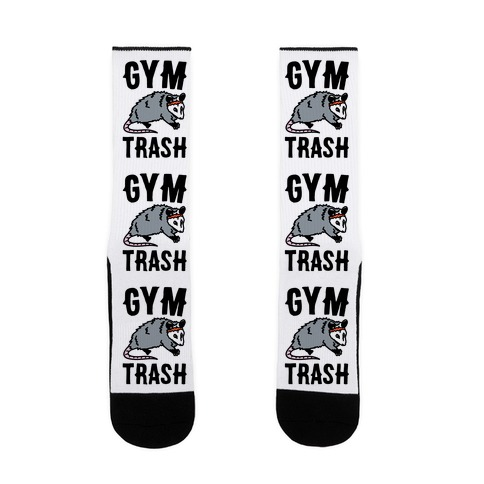 Gym Trash Opossum  Sock