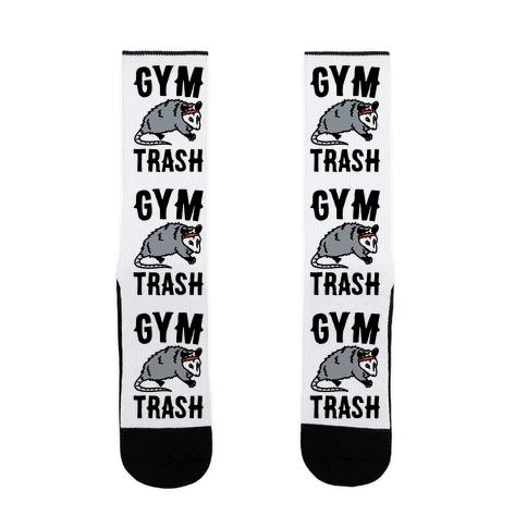 Gym Trash Opossum  Sock