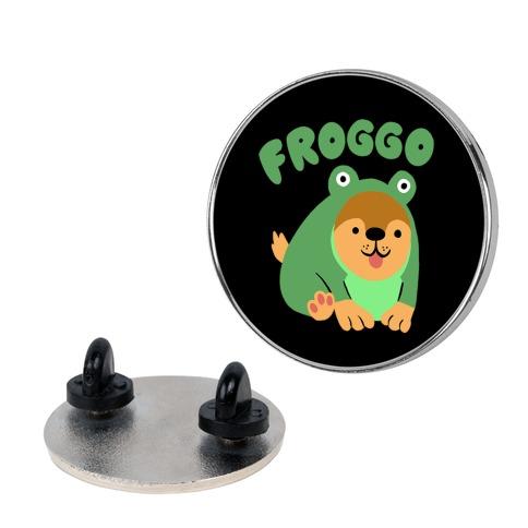 Froggo Doggo Frog Pin