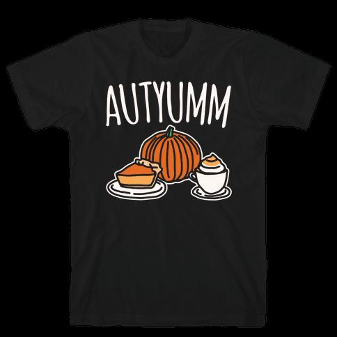 Autyumm Autumn Foods Parody White Print Mens T-Shirt