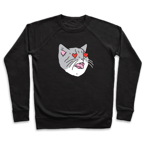 Cat With Heart Eyes Pullover