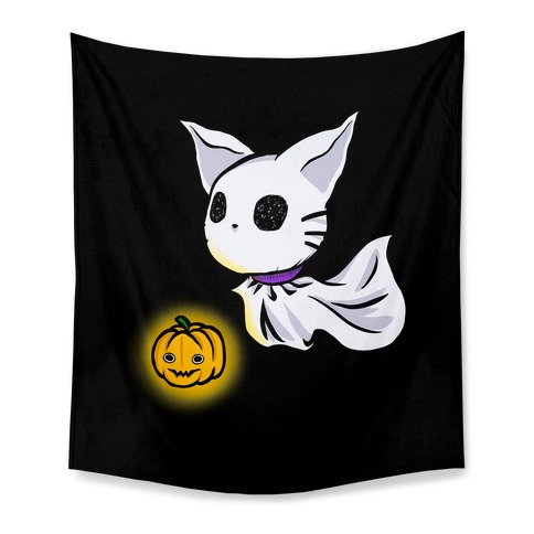 Ghost Cat Tapestry